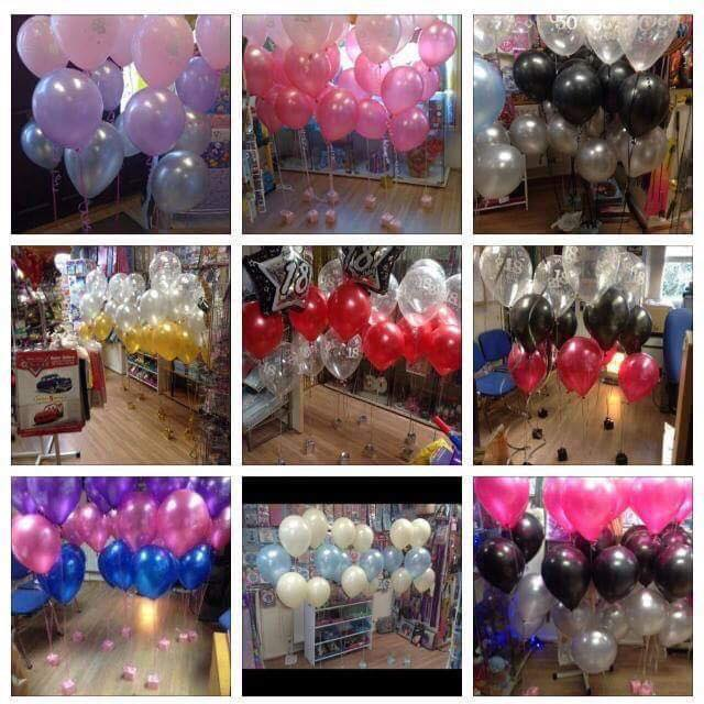 helium balloon clusters - The Party and balloon shop Tyldesley