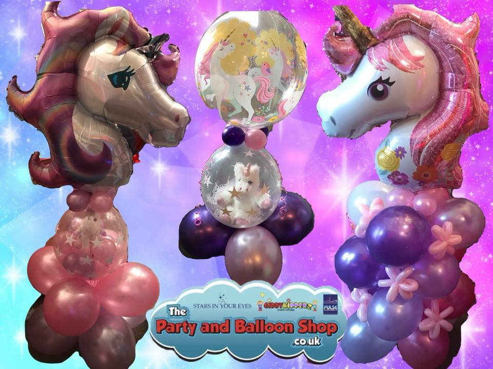 unicorn party ideas - balloon creations - The Party and balloon shop Tyldesley